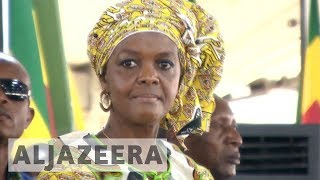 Download Protesters rally against Grace Mugabe at South Africa summit Video