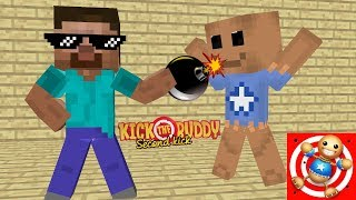 Download Monster School - KICK THE BUDDY GAME CHALLENGE : Minecraft Animation Video