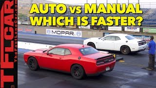 Download What's Faster an Automatic or Manual Hellcat? Watch This Drag Race to Find Out Video
