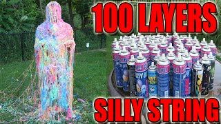 Download 100 LAYERS (CANS) OF SILLY STRING! - 100 LAYERS CHALLENGE (CHALLENGES) Video