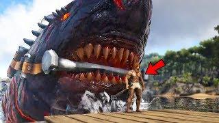 Download Ark Survival Evolved - GIANT NEW COLOSSUS MEGALODON BOSS SHARK! - Ark Modded Gameplay Video