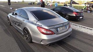 Download BRABUS Mercedes CLS63 S AMG vs 740HP BMW M6 F12 HPT Video