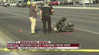 Download Motorcyclist critical after crash near Sahara, Torrey Pines Video