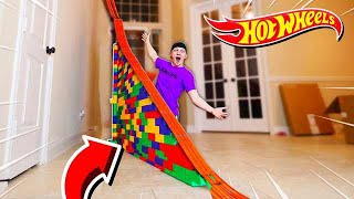 Download 50FT HOT WHEELS RAMP OBSTACLE COURSE! Video