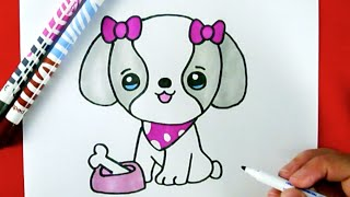 Download How to Draw A CUTE PUPPY EASY Video