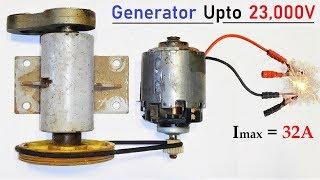 Download 12V 32 Amps DC Motor to 220v Electric Dynamo Generator - High Current Motor Generator Video