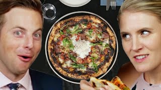 Download Couple Tries Home Cooked Vs. $65 Pizza Video