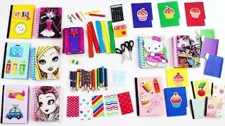 Download #2 Bebek Okul Malzemeler Yapımı - Monster High ve Barbie Okul Malzemeler nasıl yapılır?- Kendin Yap Video