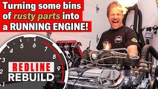 Download Pontiac GTO Tri-Power 389 TIME-LAPSE Engine Rebuild | Redline Rebuild - S2E4 Video