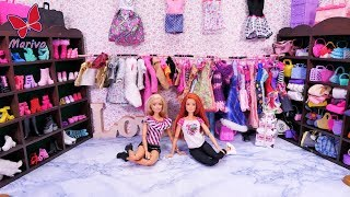 Download A HUGE BARBIE WARDROBE 🎀 COLLECTION OF SHOES, CLOTHES BAGS 🎀 NEW ROOM 🎀 story with dolls 🎀 4K Video