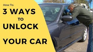 Download How to unlock a car door (without a key) Video