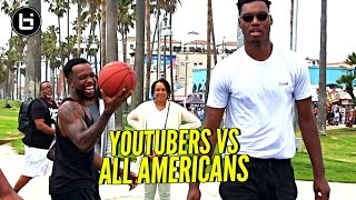 Download YouTubers vs All Americans! 😂 CashNasty, Mal & TDPresents vs B.McCoy, Ira Lee & Savion! Video