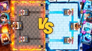 Download DECK DE FOGO vs. DECK DE GELO! QUEM GANHA? Clash Royale Video