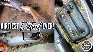 Download DEEP CLEANING The Nastiest Car Ever! Complete Disaster Full Interior Car Detailing Transformation! Video
