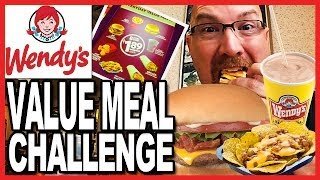 Download Wendy's ♥ Value Meal Challenge 3200 CALORIES in one sitting! OMG! | KBDProductionsTV Video