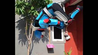 Download Kamen Rider black RX VS Acrobatter cosplay video Video