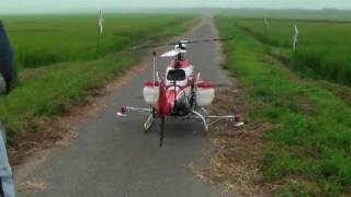 Download ヤンマー無人ヘリコプターの離陸 Takeoff of the helicopter,yanmar AYH-3 Video