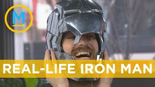 Download YouTuber the Hacksmith shows off his Iron Man helmet, Captain America Shield and more | Your Morning Video