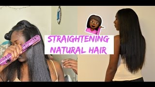 Download Straightening Natural Hair From Curly 2 Straight: Nia Imani Video