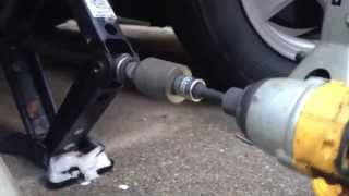 Download Jacking up a Car the Easy Way - Using Impact Wrench Video