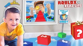Download Shawn's ROBLOX OBBY in REAL LIFE! FUNnel BOY OBSTACLE COURSE by FV Family Video