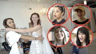 Download VLOG SQUAD GIRLS PICK OUT HER WEDDING DRESS!! Video