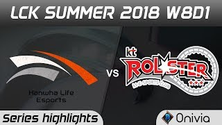 Download HLE vs KT Series Highlights LCK Summer 2018 W8D1 Hanwha Life Esports vs KT Rolster by Onivia Video