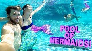 Download 😲POOL FULL OF MAGICAL MERMAIDS!! 🎏 Video
