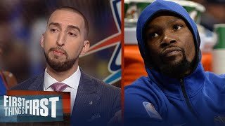 Download Nick Wright explains why America relates better to Westbrook than Durant | FIRST THINGS FIRST Video