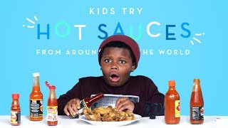 Download Kids Try Hot Sauces from Around the World | Kids Try | HiHo Kids Video