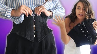 Download We Wore Vintage-Style Corsets For A Day Video