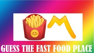 Download CAN YOU GUESS THE FAST FOOD PLACE BY THE EMOJI? Video