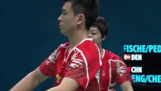 Download Dubai World Superseries Finals 2016 | Badminton SF2 M4-XD | Fis/Ped vs Zheng/Chen Video