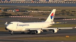 Download Malaysia Airlines Cargo B747- 400F (9M-MPR) landing 34L at Sydney Airport (YSSY) Video