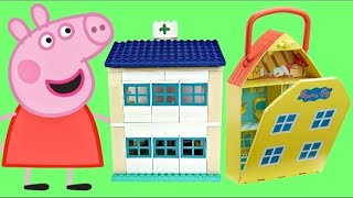 Download Compilation of PEPPA PIG Playsets with Hospital George & School Classroom Duplo Video