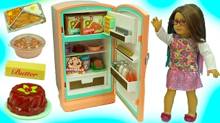 Download American Girl Fridge Playset Maryellen's Refrigerator & Food Set with Shopkins Surprise Video