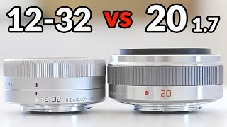 Download Panasonic 12-32mm vs Panasonic 20mm 1.7 - In Depth Comparison Video