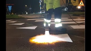 Download SWEDEN - STEP BY STEP - MODERN pedestrian crosswalk and safety marks! Video