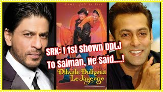 Download SRK Revealed That Salman Khan Was 1st To Watch Dilwale Dulhania Le Jayenge & His Reaction Was Great Video