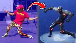 Download Top 10 Fortnite Dances IN REAL LIFE! (Fortnite Battle Royale Season 4) Video