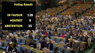 Download 128 UN member states call for USA to withdraw Jerusalem move Video