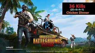 Download [Hindi] PUBG Mobile | ″36 Kills″ In Squad Match Winner Winner Chicken Dinner Video