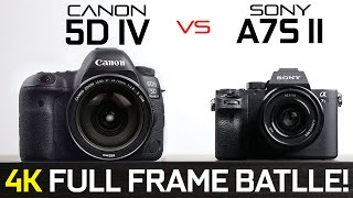 Download Canon 5D Mark iV vs Sony A7s ii - Full Frame 4k Camera Showdown! Video
