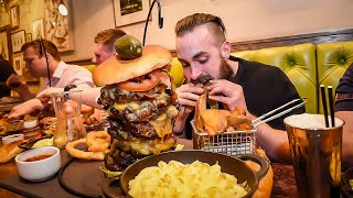 Download THE UNDEFEATED MONSTER MAC & CHEESE BURGER CHALLENGE | C.O.B Ep.55 Video