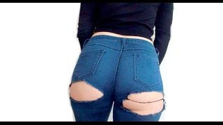 Download 🍑DIY | Kylie Jenner Inspired 'Bripped' Jeans 🍑 Video
