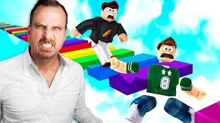Download ROBLOX 1v1 RAINBOW OBBY WITH MY DAD! Video