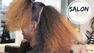 Download Salon Visit | Straightening Natural Hair (Type 4 hair) Video