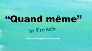 Download Quand même in English Video