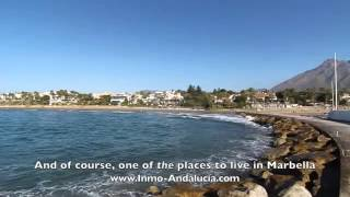 Download A guided tour of the 'Golden Mile' area of Marbella, Spain Video