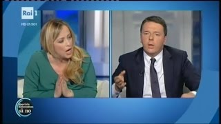 Download Duro confronto tra Giorgia Meloni e Matteo Renzi - Porta a Porta Video